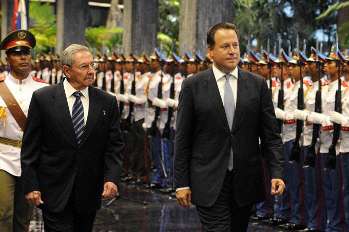 CUBA-LA HABANA-RECIBE RAÚL A PRESIDENTE DE PANAMÁ
