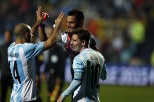 Sergio Romero, Messi y Mascherano