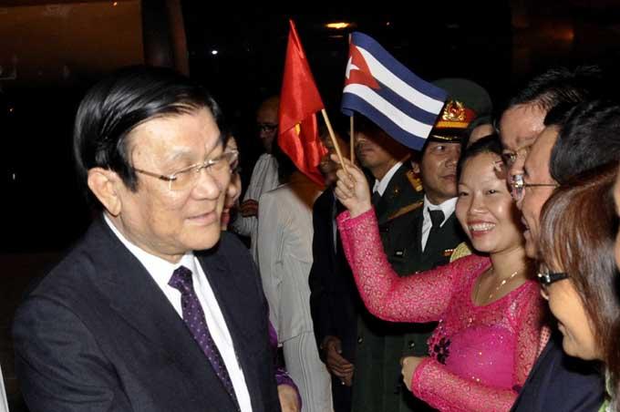 Llegó a Cuba Presidente de Vietnam para visita oficial