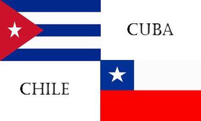 banderas Cuba-Chile