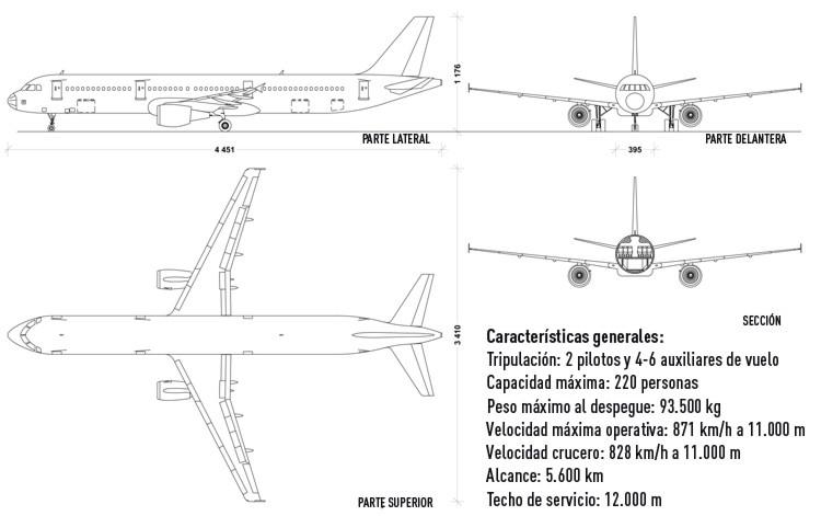 Avión Ruso, características