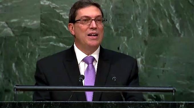 Discurso de Bruno Rodríguez en Asamblea General de la ONU