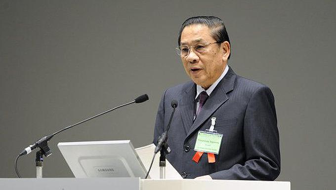 Choummaly Sayasone, presidente de Lao