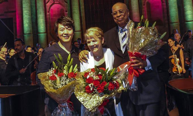 Chucho Valdés y el chino Lang Lang y Marin Alsop