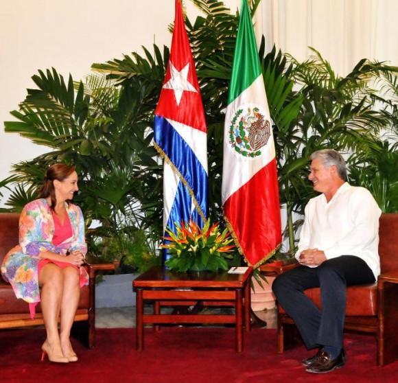 Recibió Díaz-Canel a Canciller de México