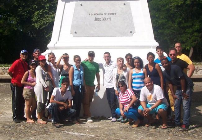 En el Monumento Nacional en Dos Ríos.