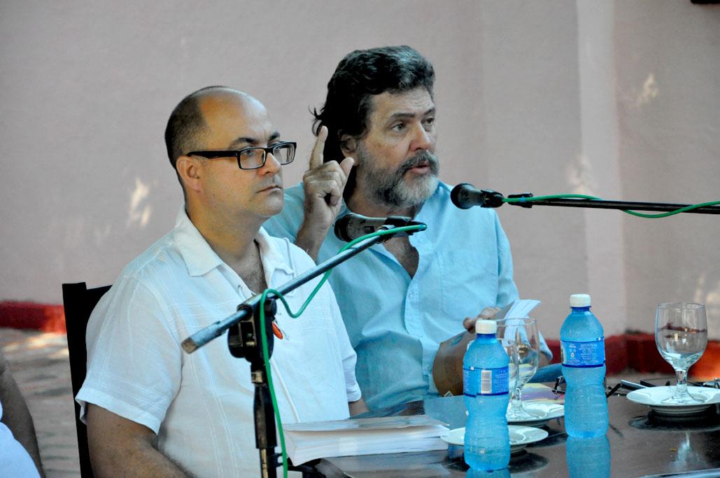 Ernesto Límia y Abel Prieto