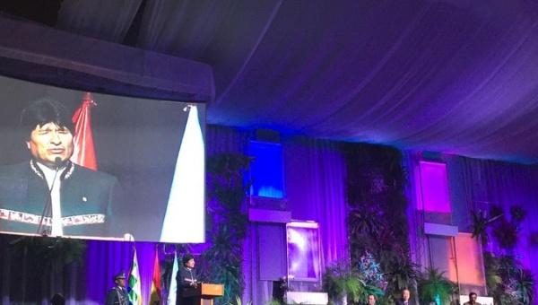 Evo Morales presenta conclusiones de Cumbre Climática
