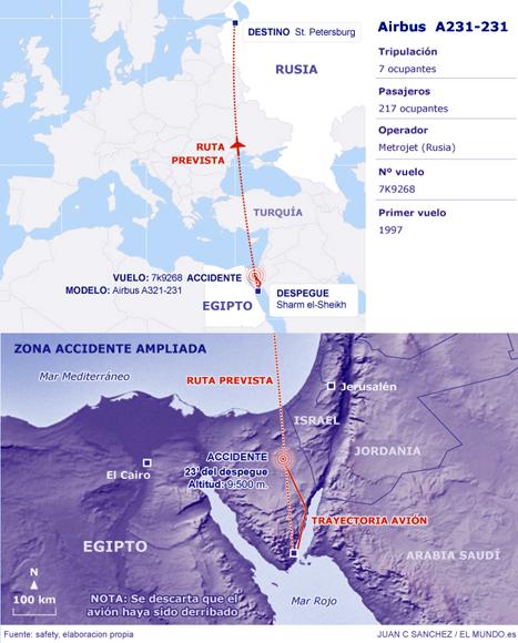 Avión ruso con más de 200 pasajeros se estrella en Egipto