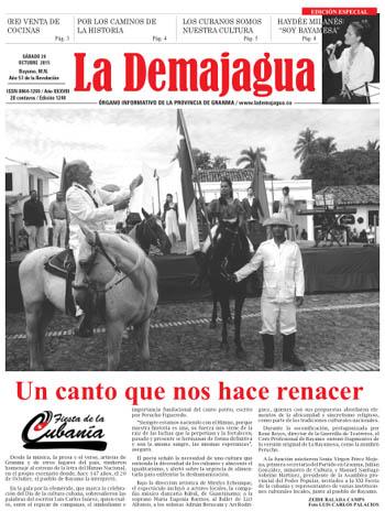 Edición impresa del semanario La Demajagua, 24 de octubre 2015