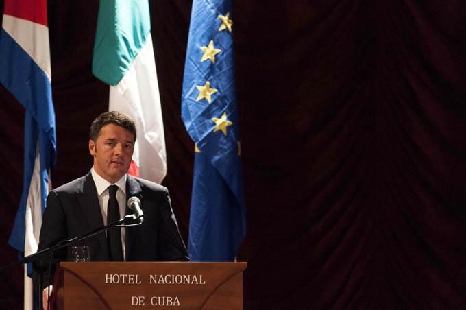 Premier italiano exhorta a empresarios a invertir en Cuba