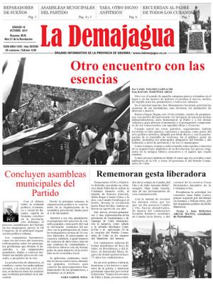 Edición impresa del semanario, 10 de octubre 2015