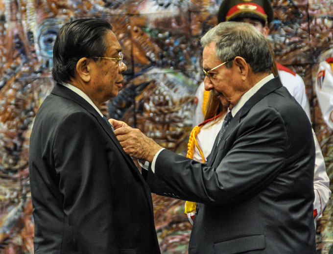 CUBA-LA HABANA-RINDE TRIBUTO A MARTI PRESIDENTE DE LA REPUBLICA