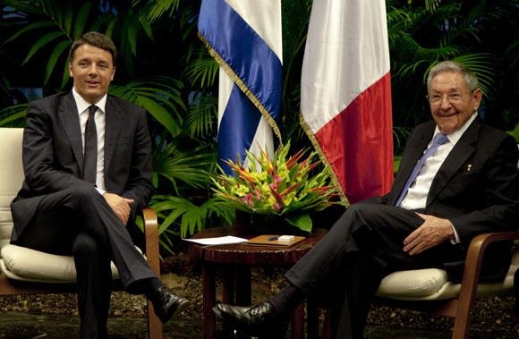 Recibió Raúl al Presidente del Consejo de Ministros de Italia