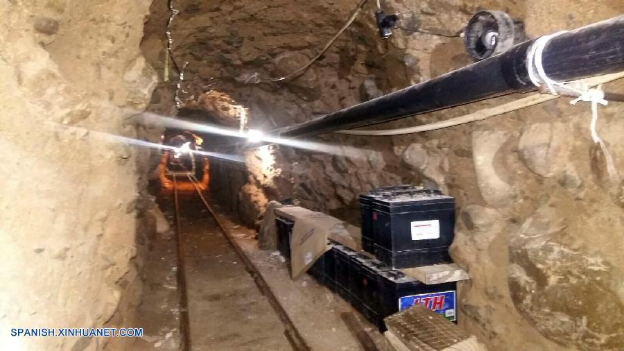 """Autoridades mexicanas descubren túnel de """"El Chapo"""" en frontera con EEUU"""