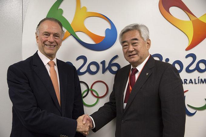 Choue (a la izquierda), junto a Nuzman / FOTO Internet
