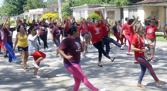 Los yarenses demostraron alto poder de convocatoria, con varias manifestaciones de la actividad física y el deporte, en todas sus variantes / FOTO Luis Carlos Palacios Leyva