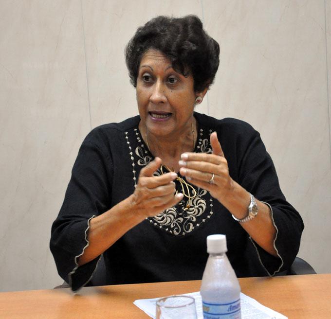 Ena Elsa Velázquez, Ministra de Educación de Cuba. FOTO Rafael Martínez Arias