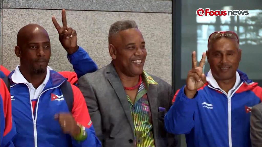 Arribo del equipo Cuba de Béisbol a Korea 2