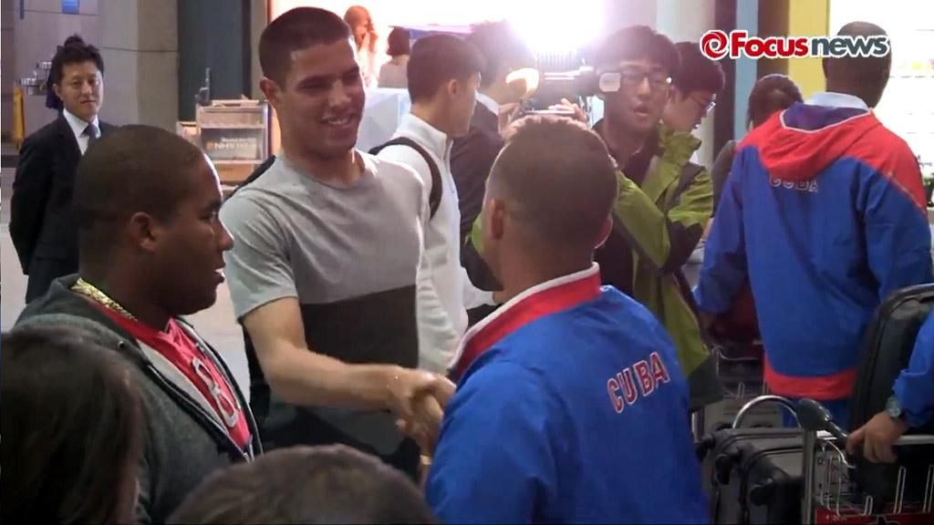 Arribo del equipo Cuba de Béisbol a Korea 7