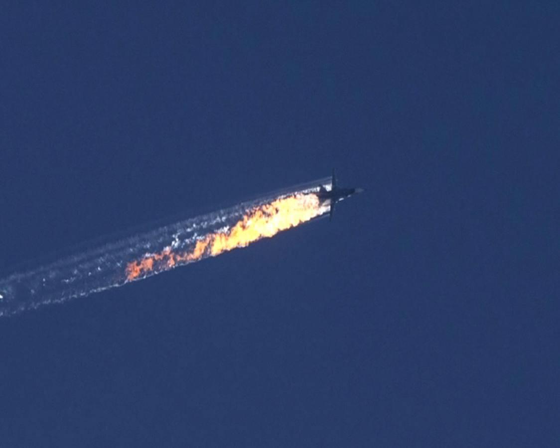RUSIA AFIRMA QUE EL SU-24 DERRIBADO EN SIRIA NO VIOLÓ EL ESPACIO AÉREO TURCO