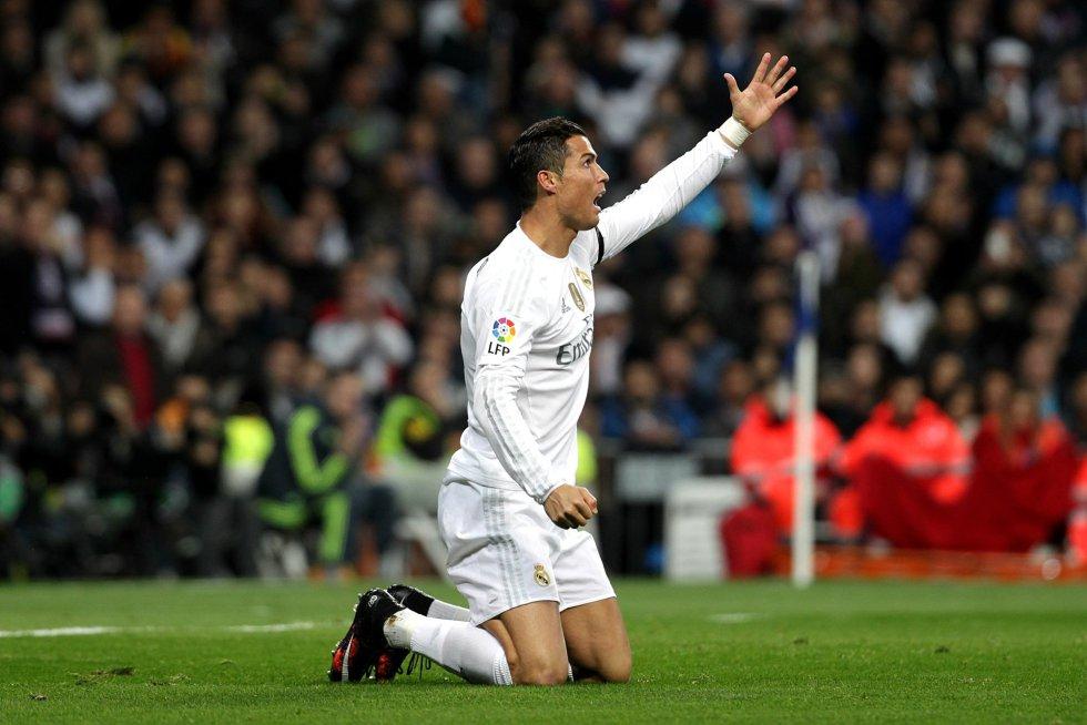 Cristiano Ronaldo, durante el partido entre el Madrid