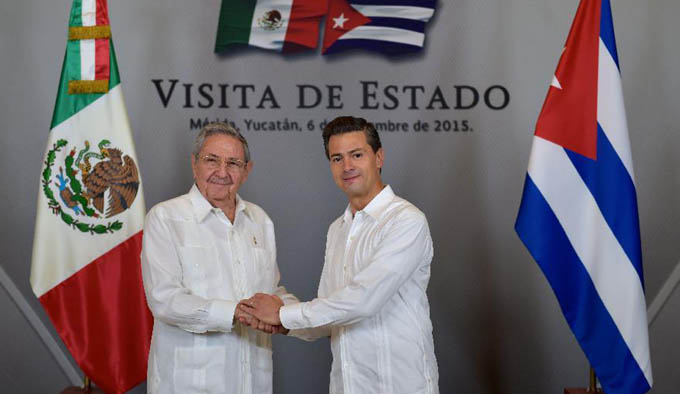 Cuba y México, Visita de Raúl Castro