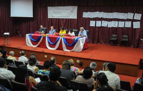 CUBA-LA HABANA-REALIZAN ENCUENTRO HEMISFÉRICO DERROTA DEL ALCA 10 AÑOS DESPUÉS
