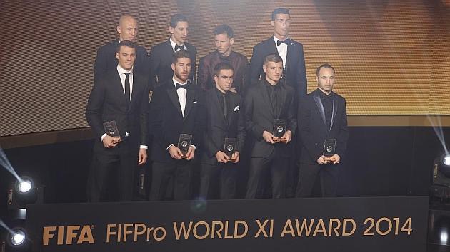 El Madrid domina la lista de los 55 nominados al 'Once Mundial'