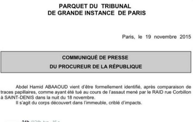 Abdelhamid Abaaoud, el 'cerebro' del 13-N, murió en la operación de Saint Denis