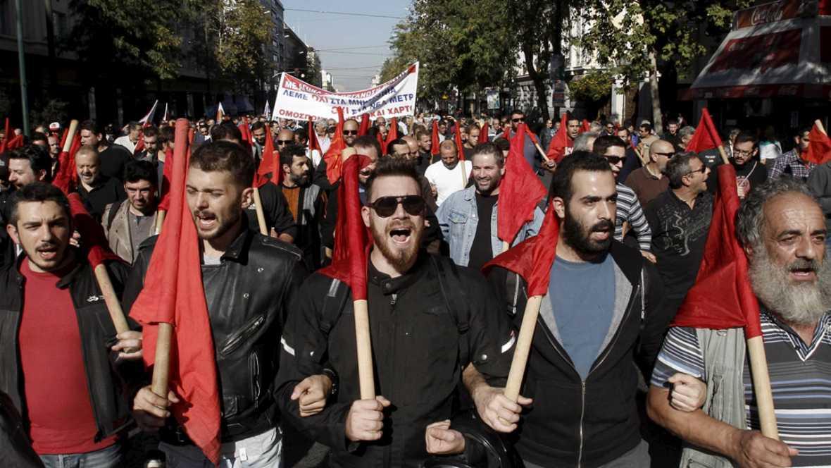 Primera huelga general en Grecia contra el gobierno de Syriza