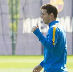 Lionel Messi entrenando