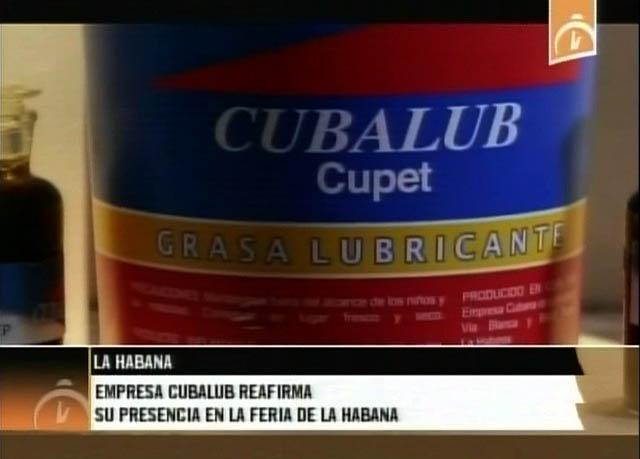 Presentan familia de lubricantes cubanos en FIHAV-2015
