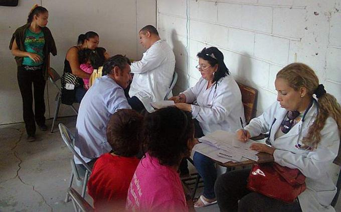 Médicos cubanos en Honduras