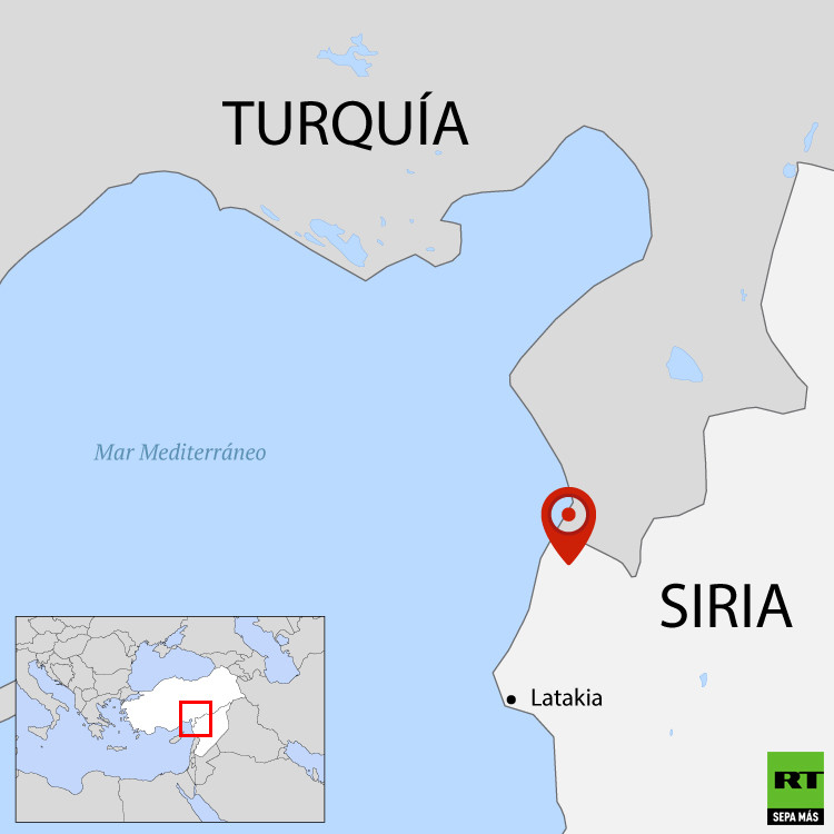 Mapa Turquía-Siria