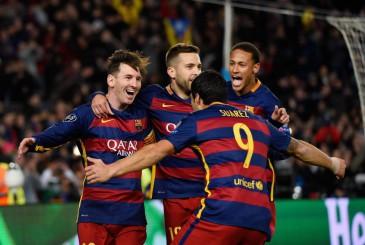 Messi, Neymar, Luis Suarez y Jordi Alba