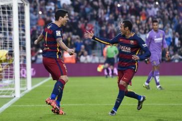 Neymar y luis Suarez