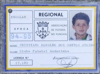 """El primer club de Cristiano Ronaldo su camiseta con el """"7"""" FOTO/ GREGORIO CUNHA"""