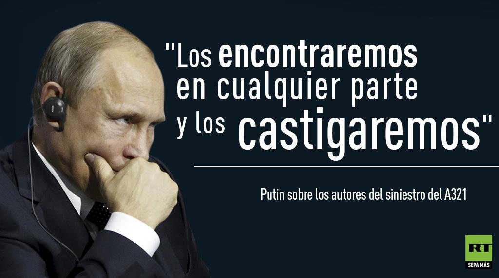 Putin, atentado avión ruso