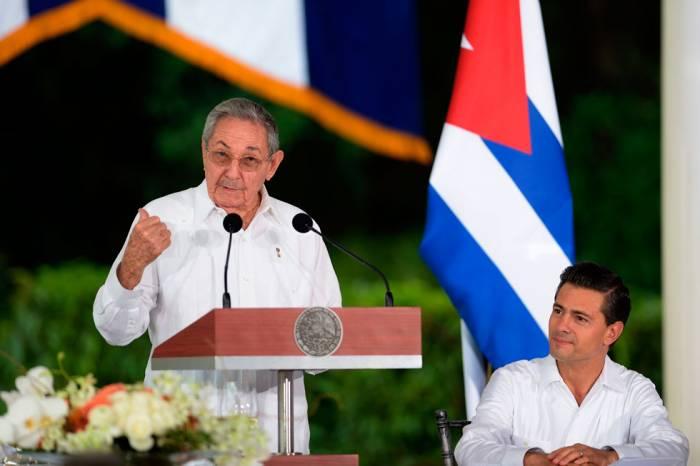 ¡Que viva siempre la indestructible hermandad entre los pueblos de Cuba y México!, Raúl Castro