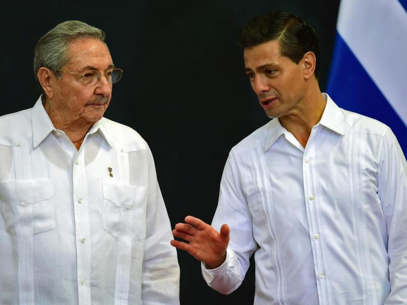 Raúl Castro Ruz visita a México