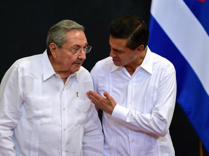 Raúl Castro ruz, visita a México 1
