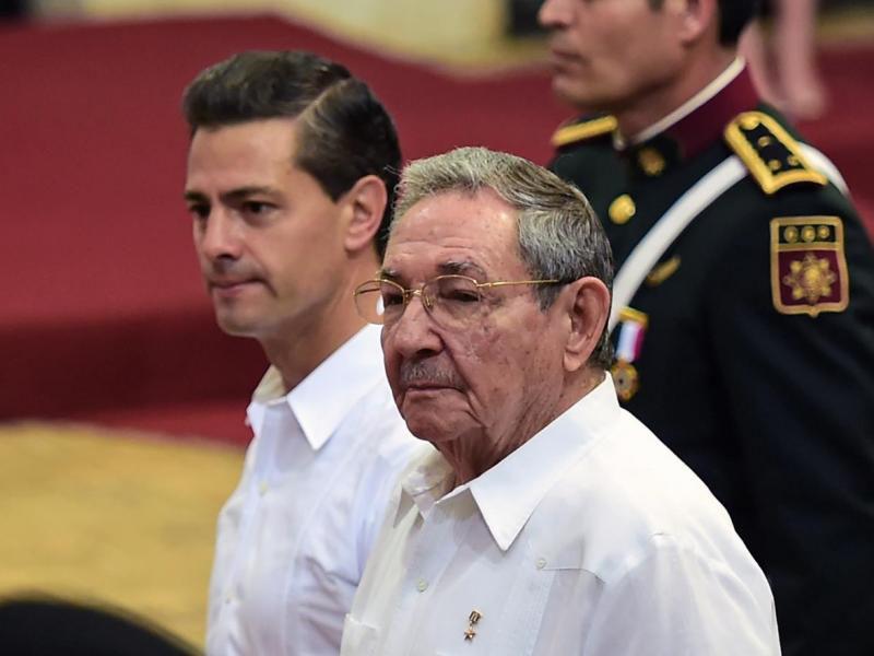 Raúl Castro ruz, visita a México 4