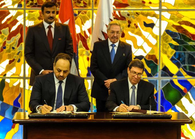 Firman Cuba y Qatar dos acuerdos de cooperación