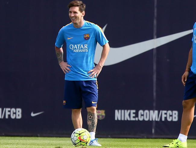 ¡Messi se reincorpora al grupo!