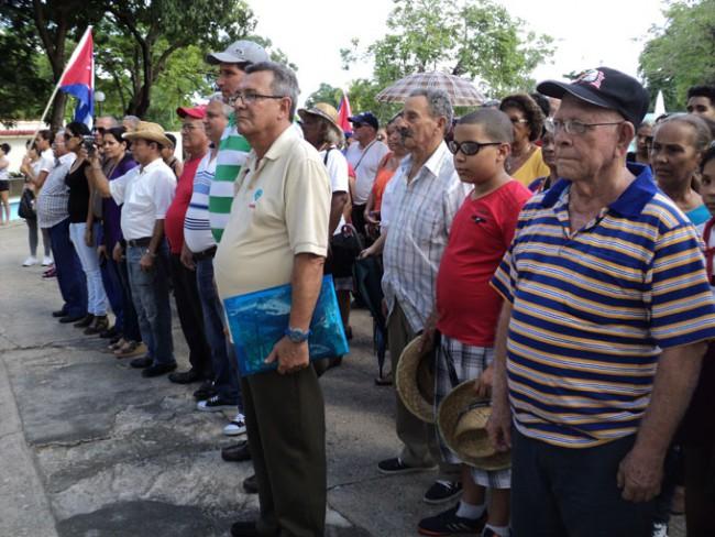 Acto de recibimiento de la delegación de Yarenses ausentes.
