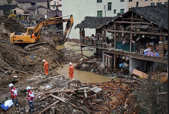 Más de 40 desaparecidos por deslave de tierras en sur de China