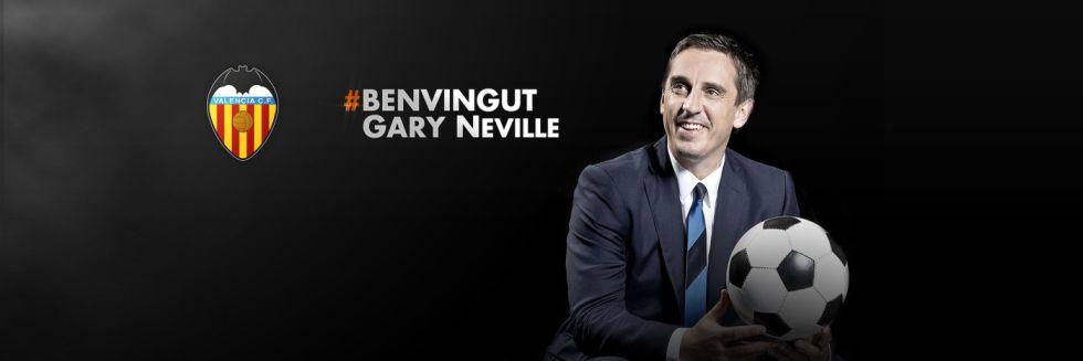 Gary Neville, nuevo entrenador del Valencia hasta junio de 2016