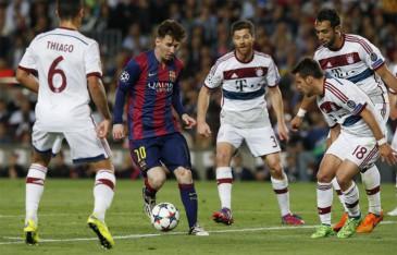 Lionel Messi contra el Bayern