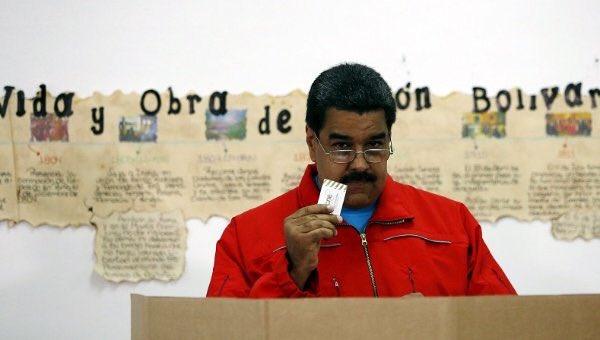 Nicolás Maduro, votaciones Venezuela 1